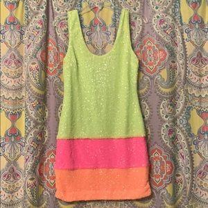 Dresses & Skirts - Sparkly sherbet mini cocktail dress